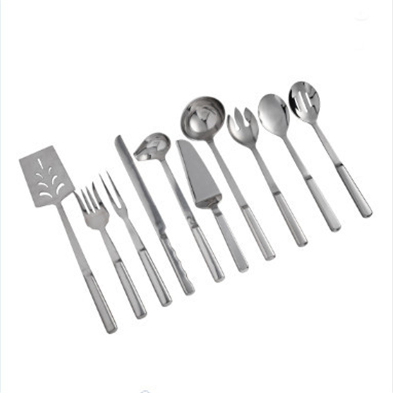 Shenone Buffet Party kitchenware Spoon Stainless Steel Serving Spoon for Restaurant Hotel