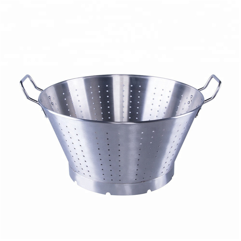 Shenone Good Quality Kitchen Accessories Stainless Steel Colander Basket Rice Strainer for Wash The