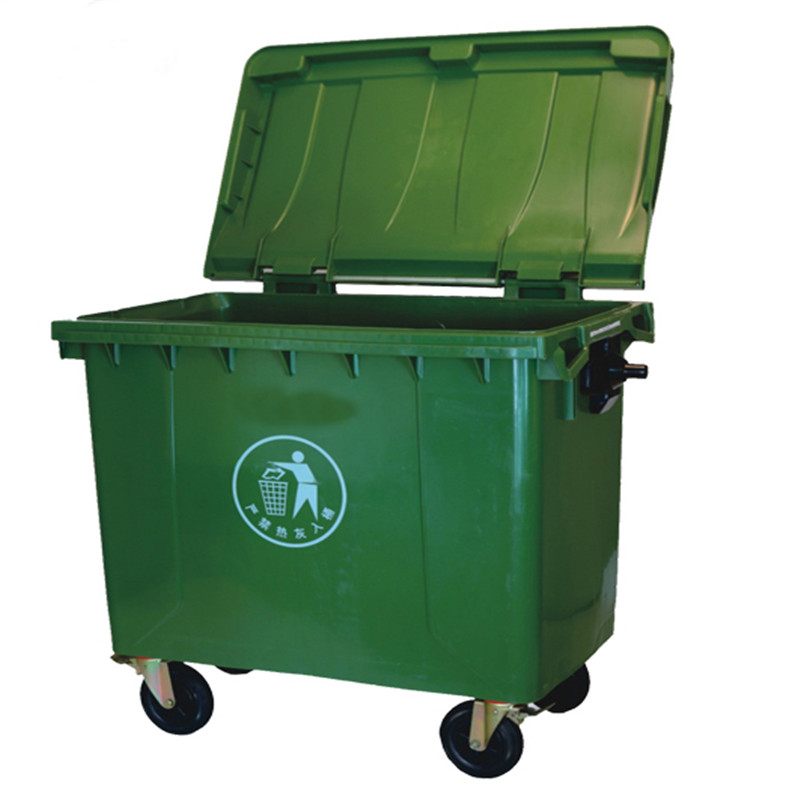 Shenone Mobile Wheeled Garbage Bin 1100L Large Garbage Bin Trash Cans