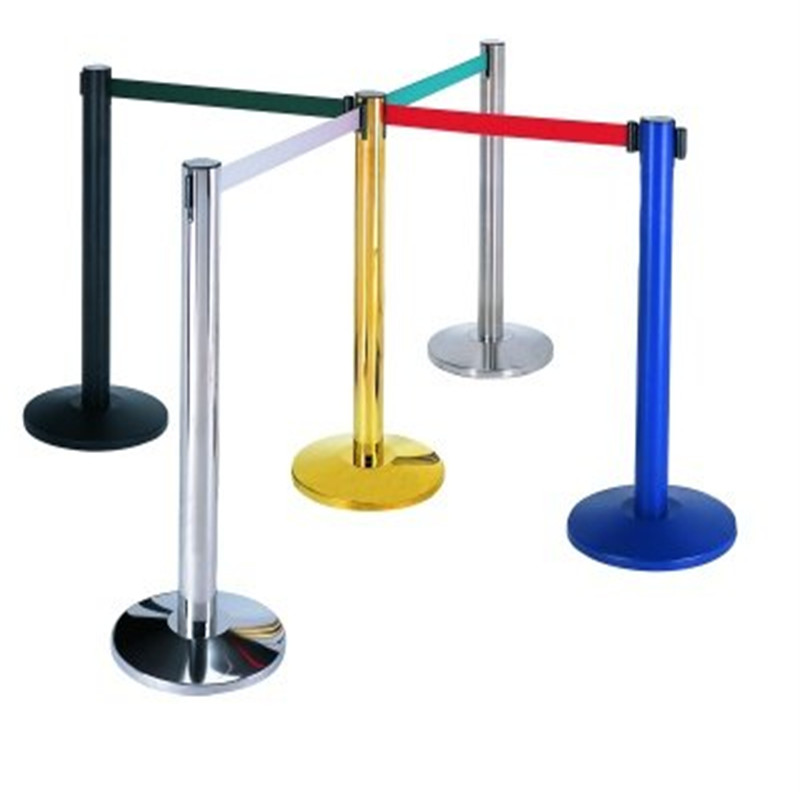Shenone Stainless Steel Retractable Belt Stanchion Stand Queue Barrier Belt